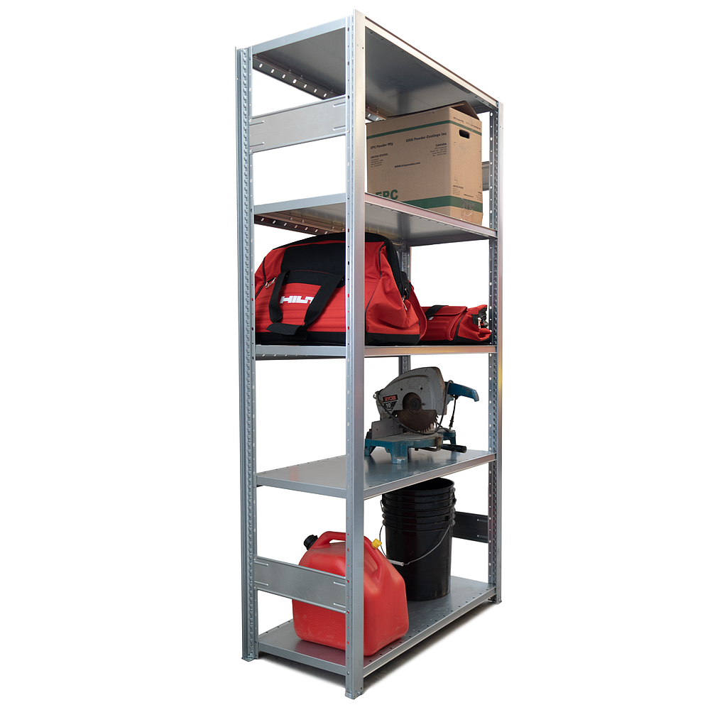 """Industrial Shelving Add-on Bay - 39"""" wide x 20"""" deep x 82"""" high with 5 Shelves"""