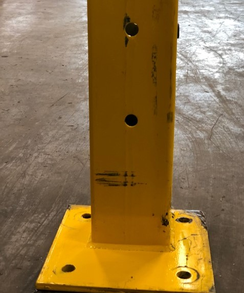 "18"" H Single Rail Post Used - Safety Yellow"