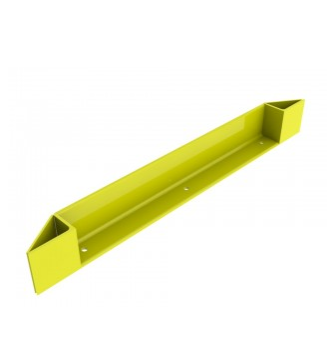 "End Of row protector 94"", 6"" x 4"" x 3/8"", Safety Yellow"