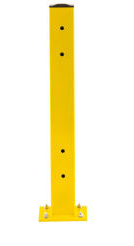 "End of Aisle Rail Posts 44"" H x 5""  x 5"" W, USED Safety Yellow"