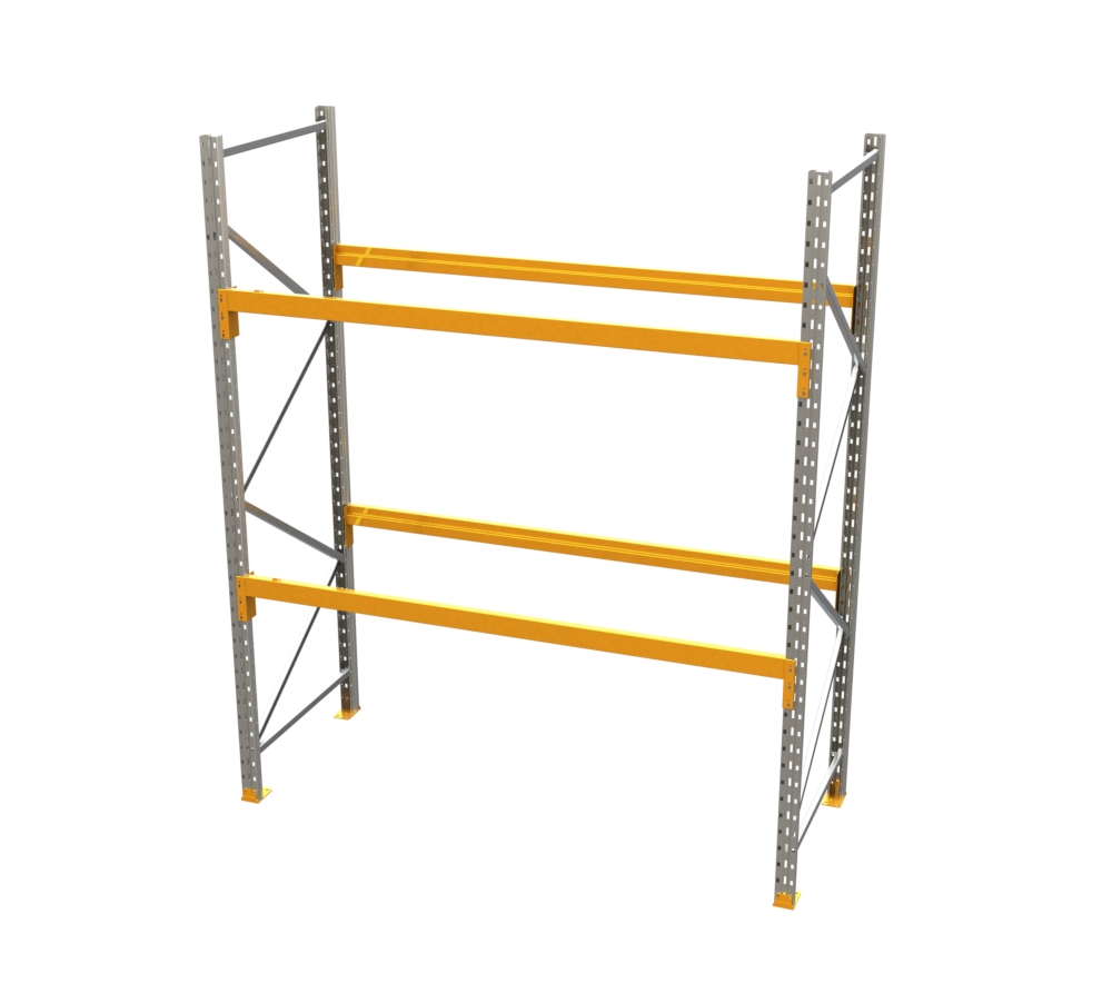 Racking - Starter Bay - 10' H x 8' W - with 2 Beam Levels