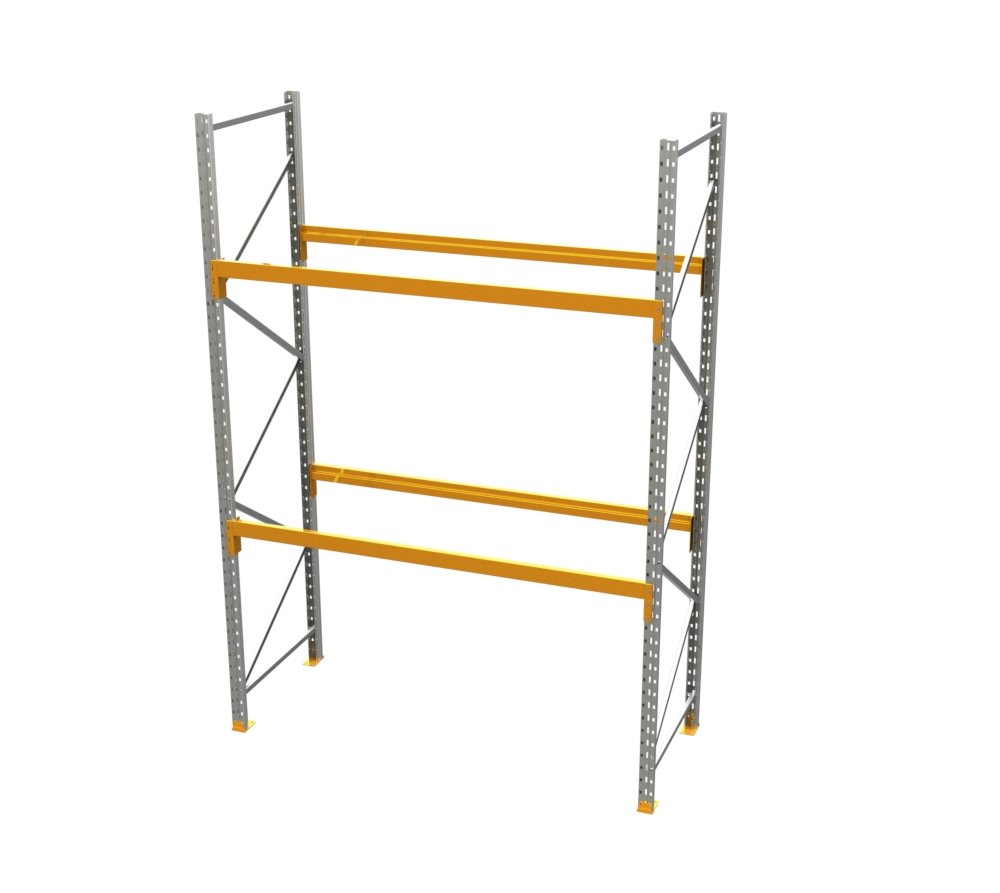 Racking - Starter Bay - 12' H x 8' W - with 2 Beam Levels
