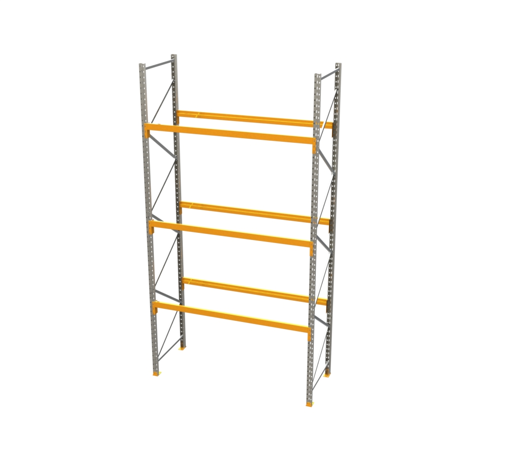 Racking - Starter Bay - 16' H x 8' W - with 3 Beam Levels